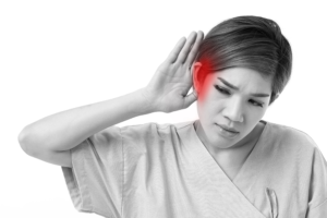 woman with hearing difficulty, Peak ENT and Voice Center, Denver Voice Clinic, Denver ENT, Colorado ENT, Denver hearing specialists, colorado ent doctor, ent rhinoplasty specialist, Peak ENT, vocal cord dysfunction
